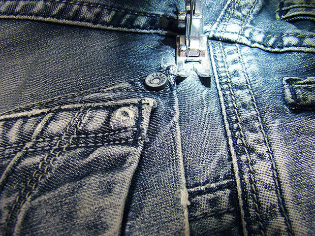Штопаем джинсы