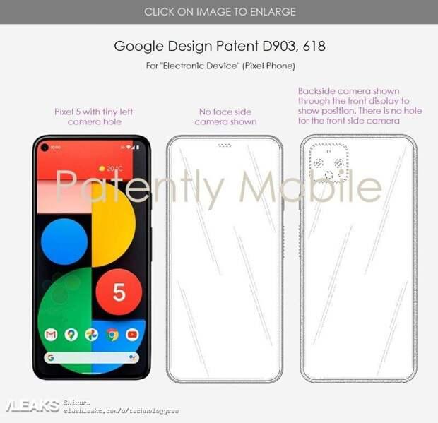 Новые смартфоны Google Pixel получат подэкранную камеру