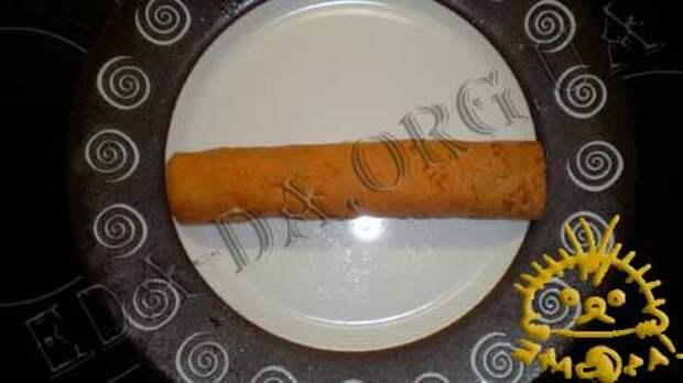 Кулинарные рецепты блюд с фото - Закусочные томатные блинчики с печенью трески, пошаговое фото 14