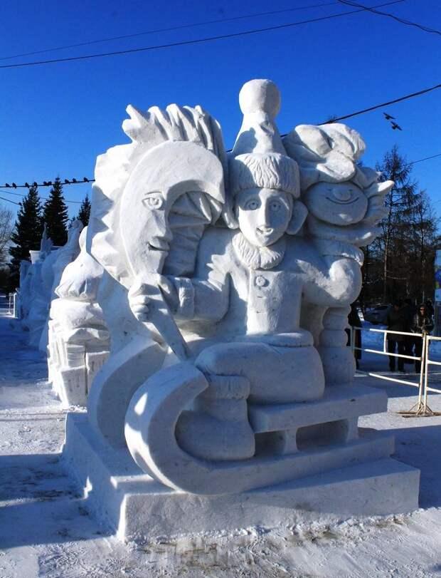 Фестиваль снежной скульптуры в Новосибирске