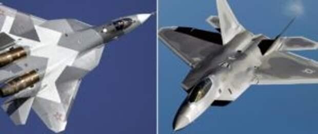 Sohu просчитало реальные шансы F-22 победить в воздухе Су-57