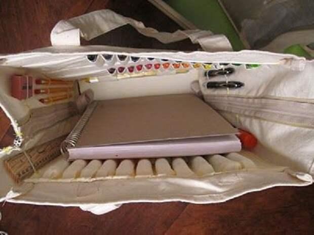 А если заглянуть в сумку художника...
