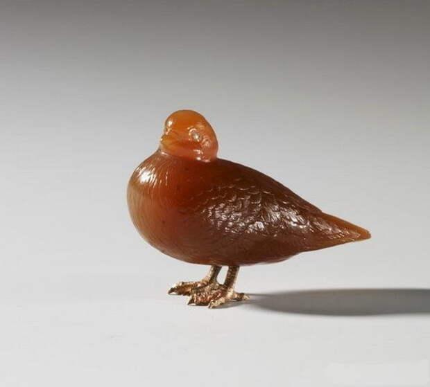 Камнерезные фигурки птиц фирмы Фаберже из королевской коллекции, фото № 23