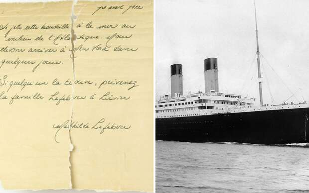 Семья нашла на берегу бутылку с письмом, написанным пассажиркой «Титаника»