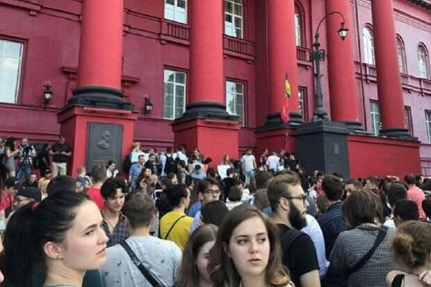 Главный ВУЗ Украины - студенты любят Россию и ненавидят Евромайдан