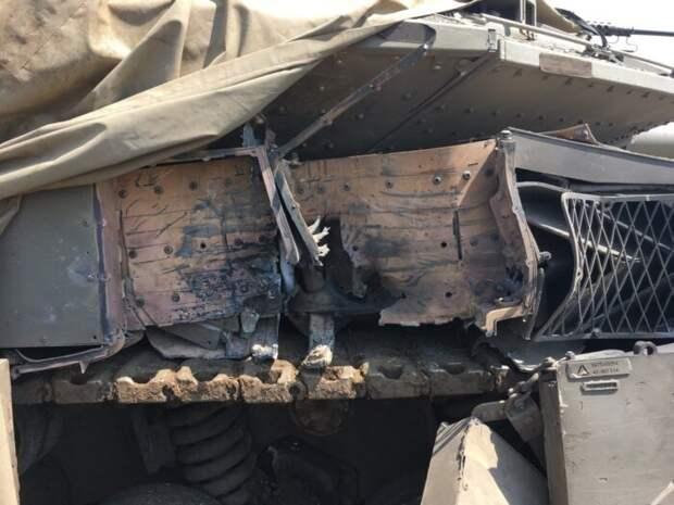 Появилось видео уничтожения танка Израиля российским оружием