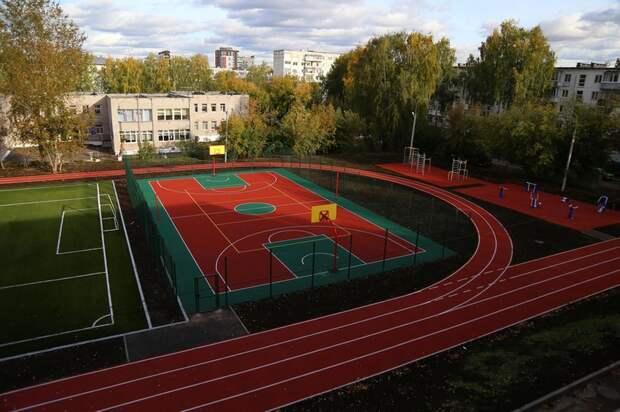 Стадион около школы №35 отремонтировали в Ижевске
