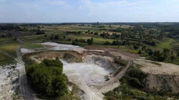 В Курской области ведут разработку мелового карьера