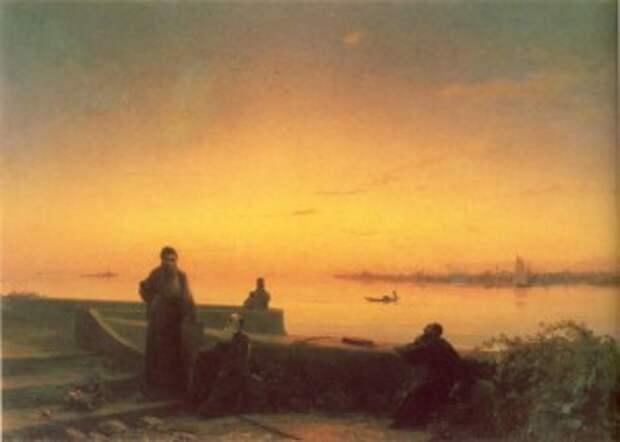 Айвазовский.Мхитаристы на острове св.Лазаря