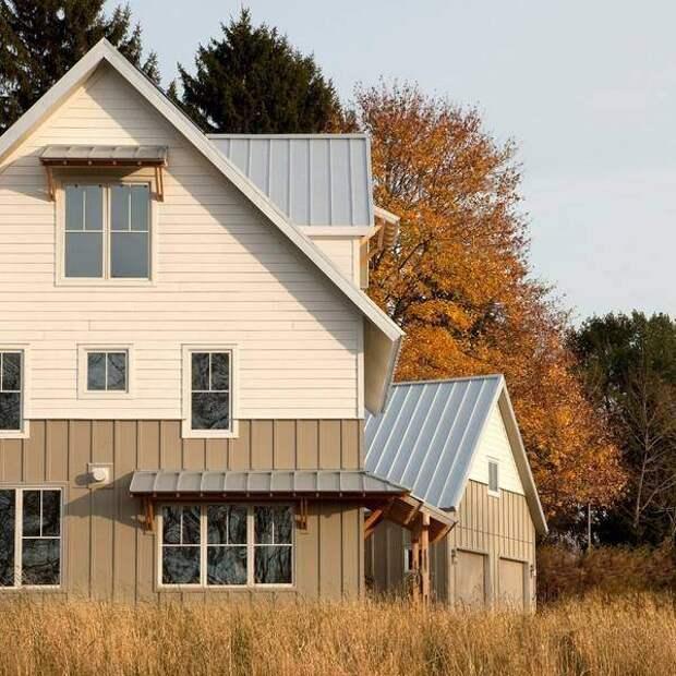 Каким цветом покрасить фасад частного дома - фото двухэтажного дома