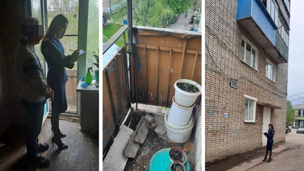 Под Тулой возбудили дело после падения части балкона на ребенка