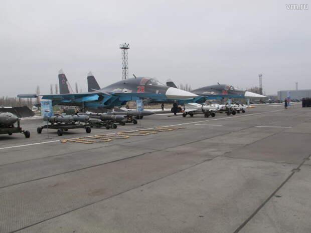 Самолеты Су-34 прибыли в Воронеж