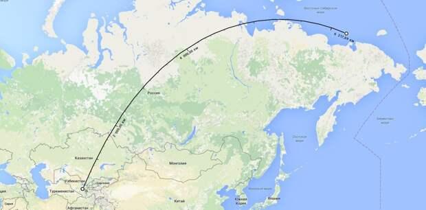 От Самарканда до Монгула 6200 км по прямой