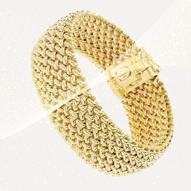 Браслет Eclat, желтое золото