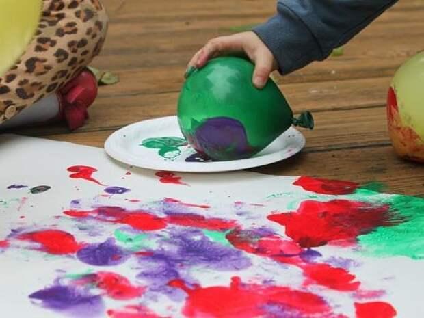 Детская территория. Необычные способы рисования
