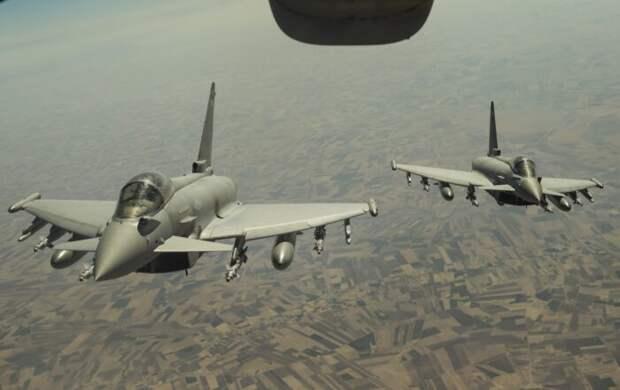 Российские РЭБ развернули британские истребители ВС Eurofighter Typhoon вблизи Сирии