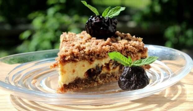 Творожный пирог с черносливом - Рецепт от Кулинариссимо.
