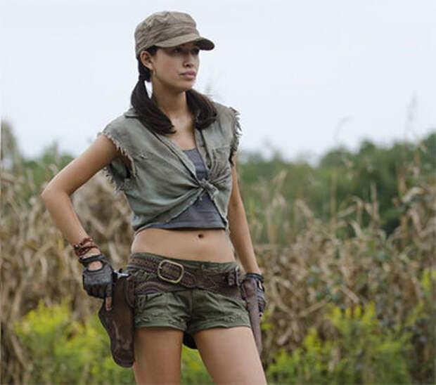 Красивые актрисы, которые снимались в сериалах про зомби.