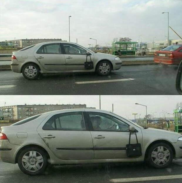 Девушка за рулем.