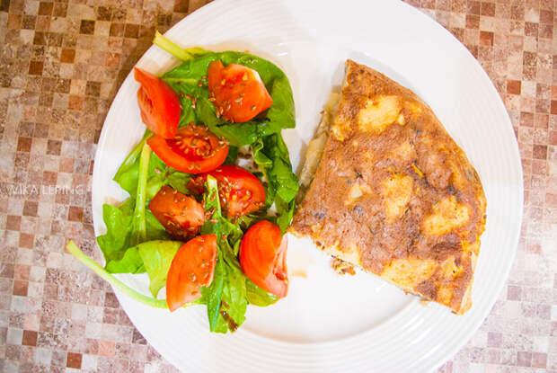 Испанская Тортилья или омлет с картофелем: рецепт классический