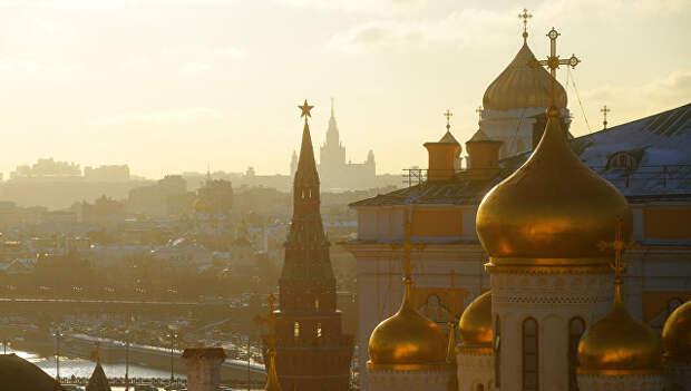 Вид Москвы с колокольни Ивана Великого. Архивное фото