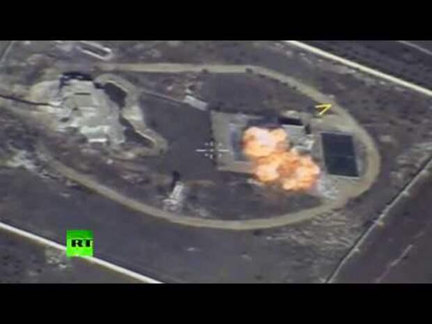 Опубликовано видео нанесения удара крылатыми ракетами по боевикам в Сирии