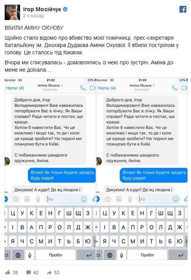 Все подробности: Как и за что расстреляна Амина Окуева и ее муж-снайпер «АТО»