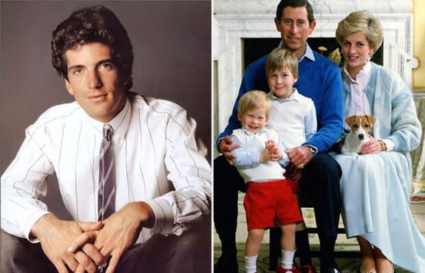 10 любимых мужчин принцессы Дианы и одна ночь с Джоном Кеннеди младшим