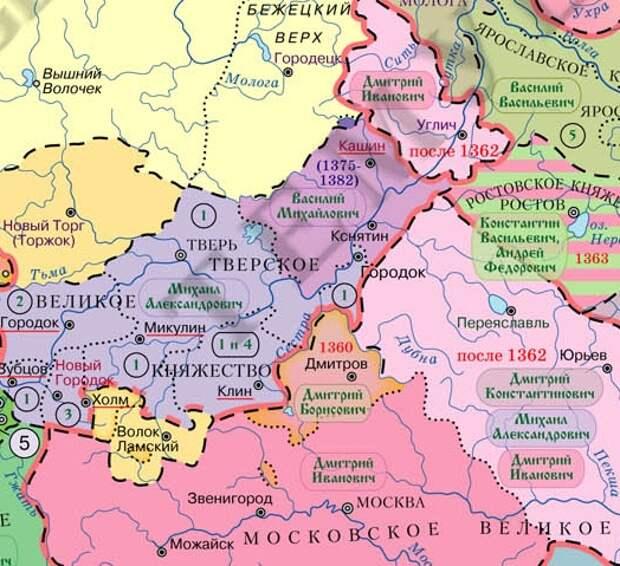 Кашинское княжество - яблоко раздора между Тверью и Москвой