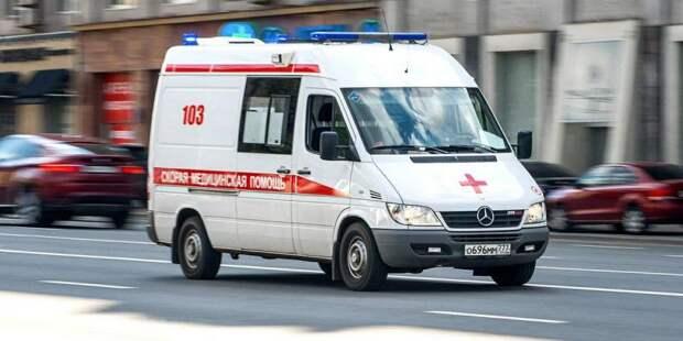 В районе Ховринского путепровода произошло ДТП с участием мотоцикла