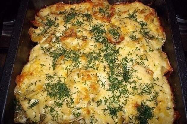 Картошка по-французски с мясом