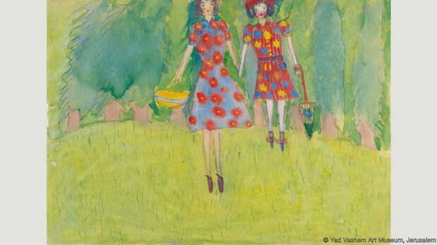 Нелли Толл, *Девочки на лугу*, 1943