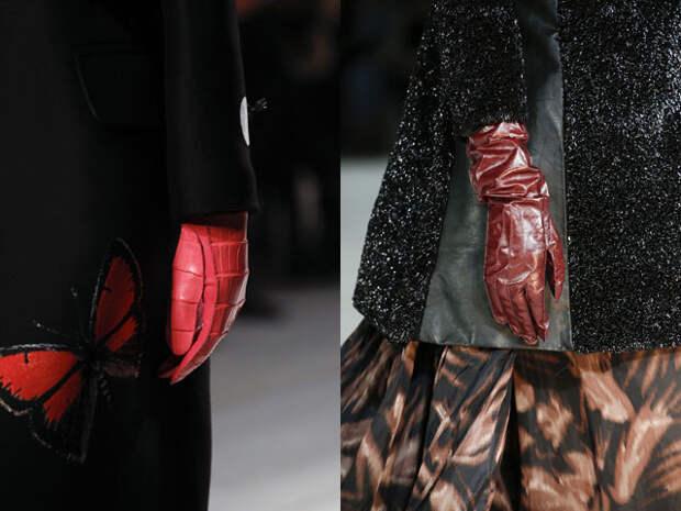 Модные кожаные перчатки 2016-2017