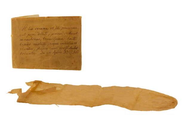 Презерватив и руководство к использованию (1813 год). /Фото: condomsales.com.au