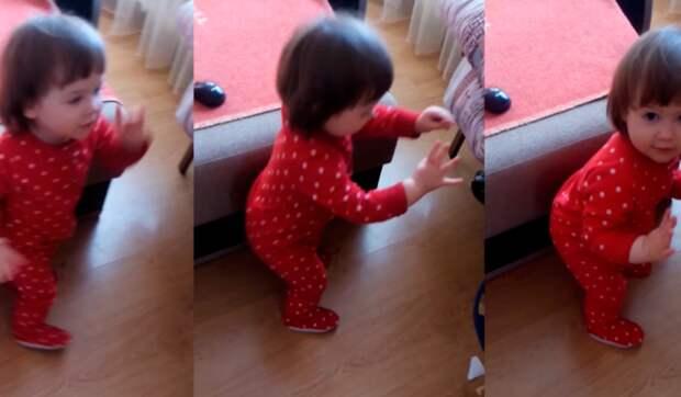Маленькая девочка научит всех танцевать под музыку. Позитивное и милое видео