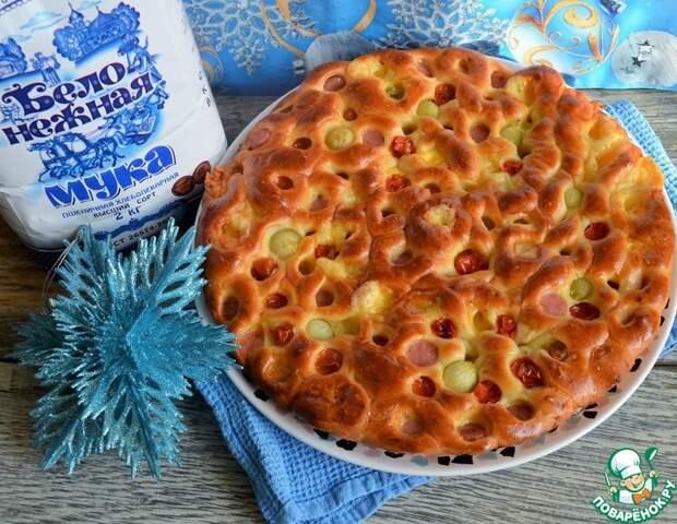 Рецепт: Пирог Новогодняя гирлянда