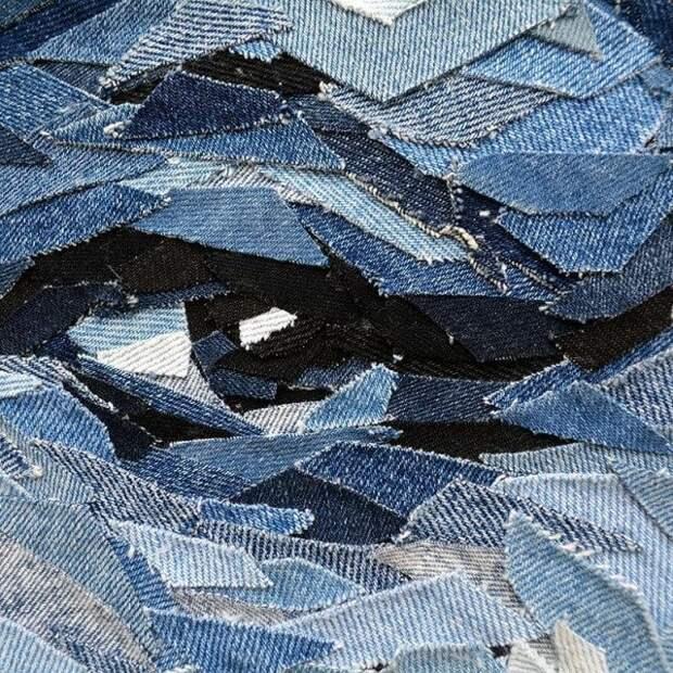 Невероятные портреты из кусочков джинсовой ткани