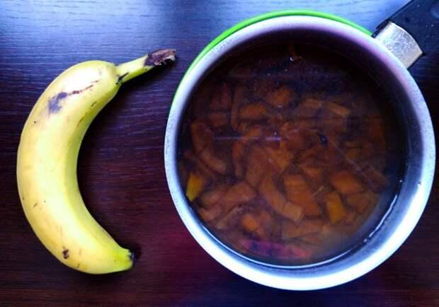 Банановый чай для сада и цветов