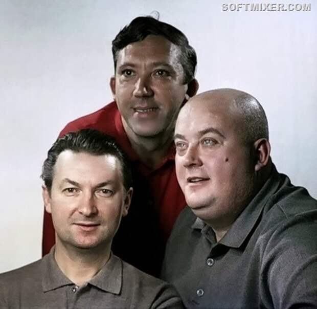 Знаменитая весёлая троица: Вицин, Моргунов и Никулин