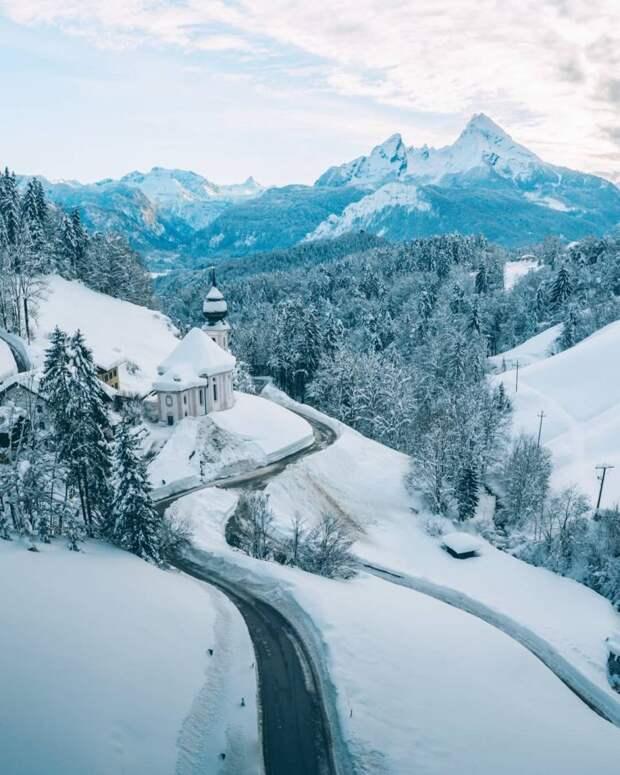 Сказочная зимняя Австрия на фото