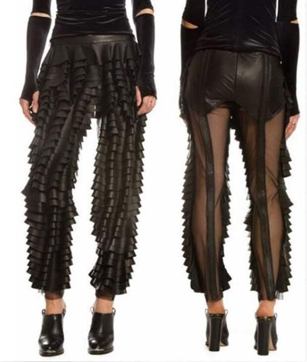 Необычные кожаные штаны