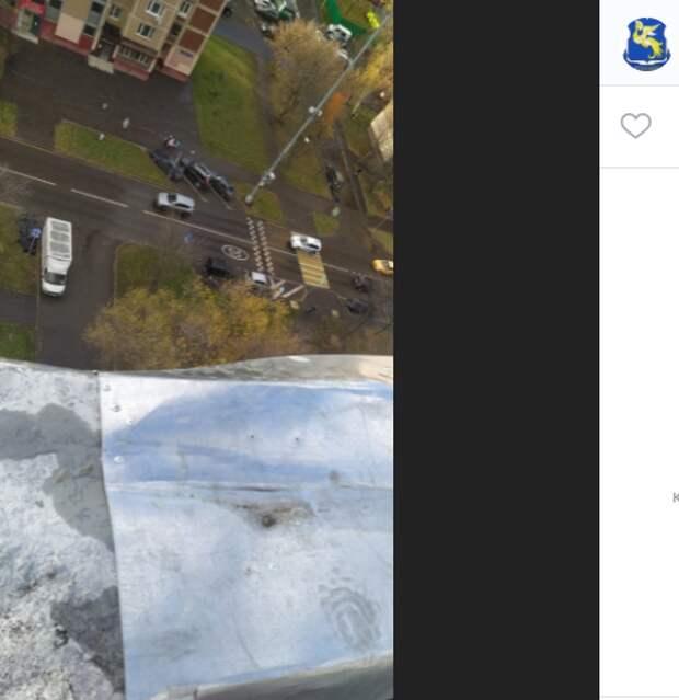 Металлический лист крыши дома на Каргопольской грозился упасть вниз