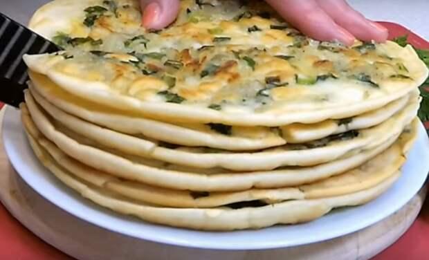 Тонкие картофельные лепешки с луком