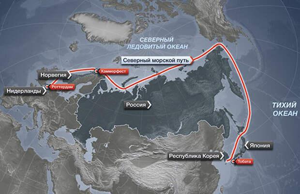 Россия агрессивно расположила свои границы вдоль северного морского пути