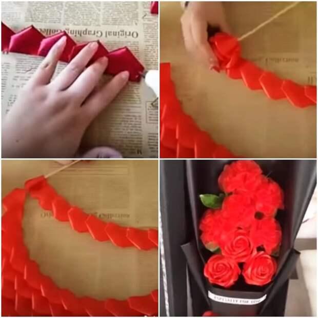 Красивые розы своими руками: потрясающий эффект при элементарной сборке