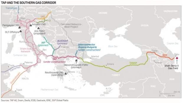 Азербайджанский газ пошел вЕвропу