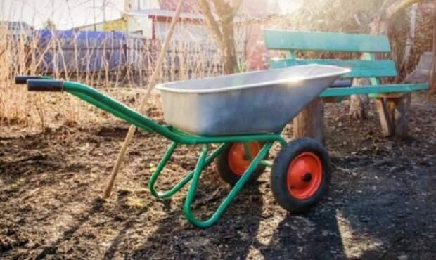 Тачка садовая двухколесная фото