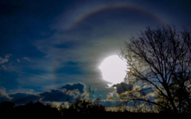 В Рязани сняли процесс формирования солнечного гало