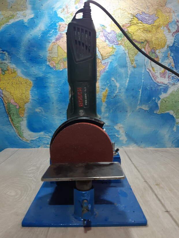 Мини шлифовальный станок своими руками на основе УШМ