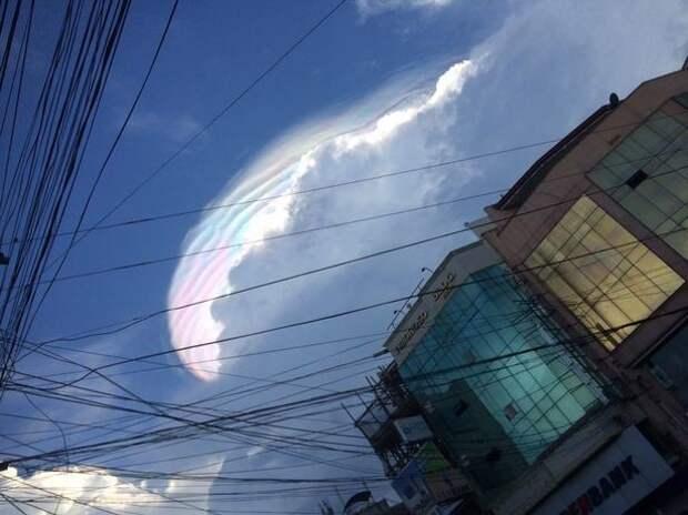 В небе над Филиппинами пролетел радужный единорог единорог, облако, филиппины, явление